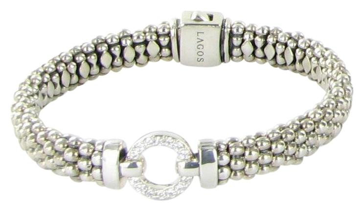 Lagos Enso Diamond Caviar Rope Bracelet, 9mm