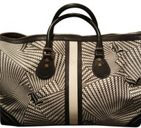L.A.M.B. Black & White Travel Bag