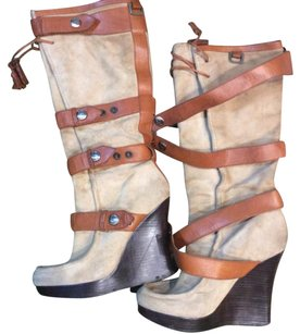 L.A.M.B. tan and camel Boots