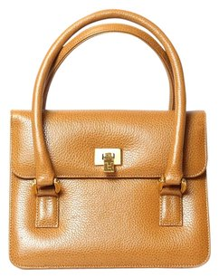 Lambertson Truex Satchel in cognac brown