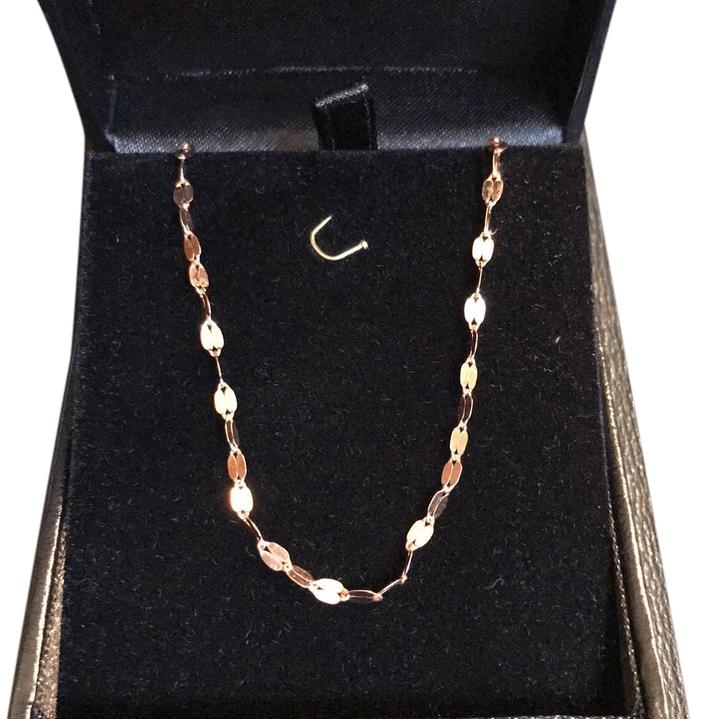 Lana Jewelry 14 Karat Rose Gold Mirror Chain Necklace Tradesy