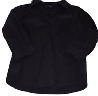 Lands' End Button Down Shirt Black
