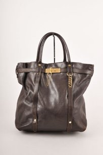 Lanvin Dark Hardware Leather Tote