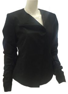 Lanvin Asymmetrical Cotton Black Jacket