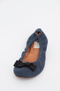 Lanvin X Acne Navy Dark Blue Flats