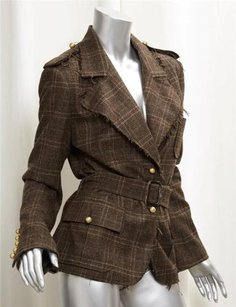 Lanvin Winter 2005 Wool Brown Jacket