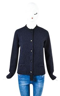 Lanvin Navy Black Mohair Sweater