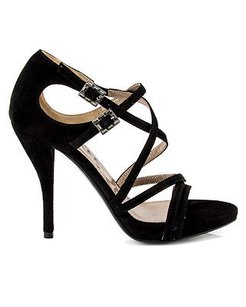 Lanvin Suede Strappy Black Pumps