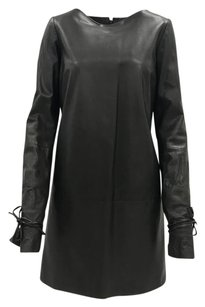 Lanvin Lambskin Leather Classic Edgy Shift Dress