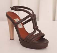 Lanvin Womens Leather Brown Pumps