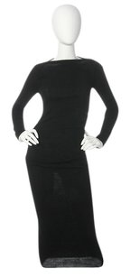Lanvin Wool Boatneck Ruched Dress