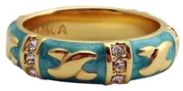 Lauren G Adams Lauren G Adams Gold Elegant Hugs Stackable Ring Turquoise 5 R-49906g