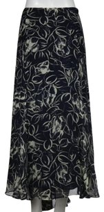 Lauren Ralph Lauren Womens Floral 22w Below Knee Skirt Navy