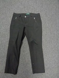 Lauren Ralph Lauren Petite Stretchy Cropped 14p Sma7146 Capri/Cropped Pants Black