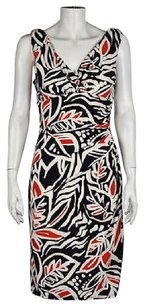Lauren Ralph Lauren Womens Black Sheath Floral Sleeveless Knee Length Dress