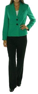 Le Suit 13 50 Le Suit Emerald Green Black Madison Ave Two Piece Pant Suit Size