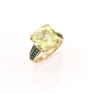 Le Vian Levian,14k,Yellow,Gold,Citrine,Tsavorite,Diamond,Cocktail,Ring,-,Size,8.5