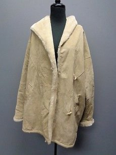 Learsi Reversible Leather And Faux Fur Heavy Winter Coat Sma12126 Beige Jacket