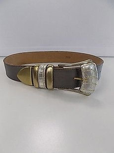 Leatherock Leatherock Smoky Gray Leather Casual Belt W Gold Tone Buckle B3486