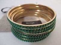 Lee Angel Lee Angel Color Therapy Green Enamel Braid Bangle Set Of Bracelet