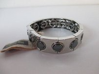 Lee Angel Lee Angel Silver Link Gunmetal Circle Stretch Bracelet