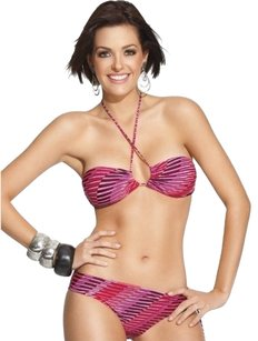 Leonisa 2pc bandeau swimsuit pink 36B