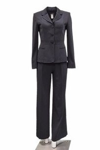 Les Copains Les Copains Navy Blue Pants Suit Top Stitched Detail 90215hp