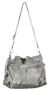 LeSportsac Womens Silver Metallic Handbag Shoulder Bag