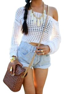 Levi's True Religion Chanel Rock Revival Joes Skinny Hudson 7 Paige Miss Me Bootcut Skirt Cuffed Shorts blue & white