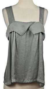 Lilith Womens Marbled Metallic Xs36 Sleeveless Casual Shirt Top Gray