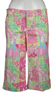 Lilly Pulitzer Palm Beach Fit Womens Printed Capris Cropped Trousers Pants