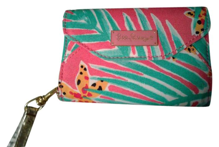 Lilly Pulitzer Wristlet In Multi Colored, Pink, Green White ...