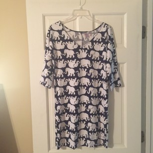 Lilly Pulitzer short dress Navy/White Tusk In Sun Christy on Tradesy