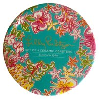 Lilly Pulitzer Lovely Lilly Pultizer Ceramic Coaster Set