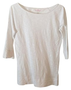 Lilly Pulitzer Cassie Cotton T Shirt White