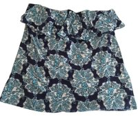 Lilly Pulitzer Wiley Strapless Hey Sailor blue Halter Top