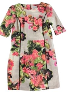 Line & Dot Textured Floral Dress