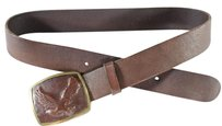 Linea Pelle Belt,brown,buckle,eagle,avf