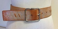 Linea Pelle Linea Pelle Brown W Silver Metallic Leather Stud Accented Belt B2174