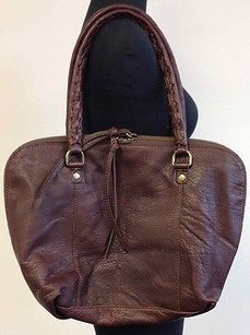 Linea Pelle Leather Satchel in Brown