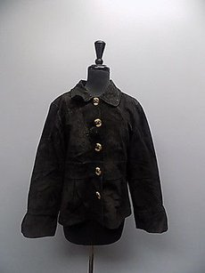 Live A Little Snap Down Button Leather Lined Casual 086a Black Jacket