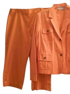 Liz Claiborne bright orange Blazer