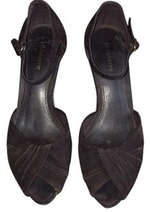 Liz Claiborne Dark brown Suede Wedges
