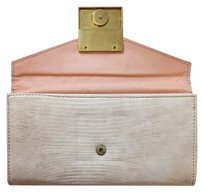 Liz Claiborne nude snake skin wallet with peachy inside