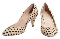 Loeffler Randall Black Tan Polka Dot Pony Hair High Heel Pumps
