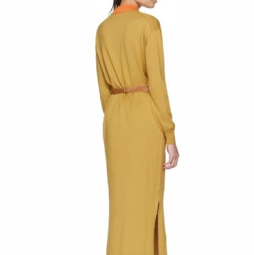 Golden Yellow Loewe Polo Knit Midi Piece Maxi Dress on Tradesy