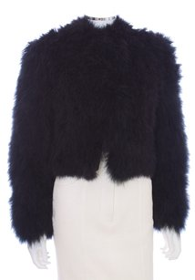 London Couture Ostrich Feathers Custom Longsleeve Tailored Fur Coat