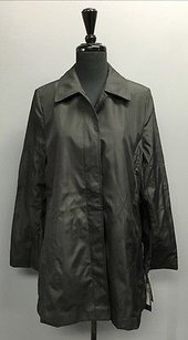 London Fog Water Resistant Wool Lined Button Up 1309 Black Jacket