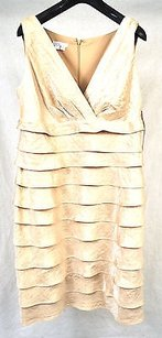 London Times short dress Gold Champagne on Tradesy