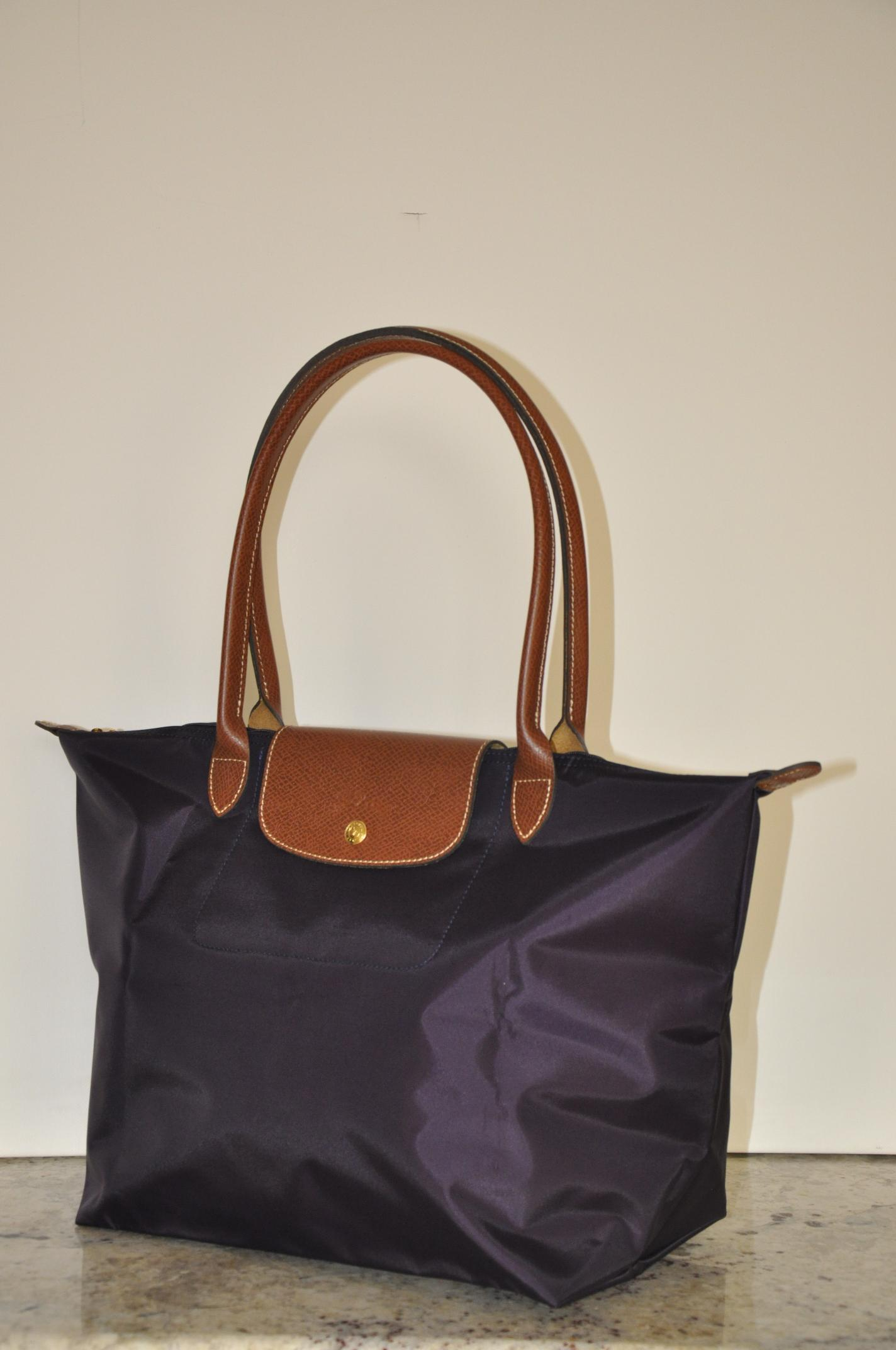 Discount Longchamp Le Pliage Tote Bags 1899 089 645 Bilberry